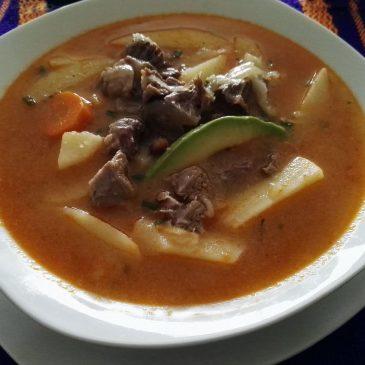 SOPA MEXICANA Y OSSOBUCO La sopa de Tirita de Papa con un Caldo muy especial