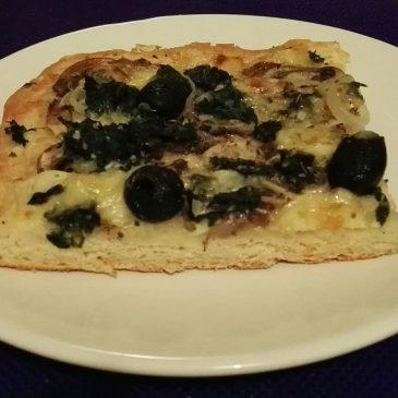 PIZZA BLANCA DE ESPINACAS Pizza de Espinacas versionada