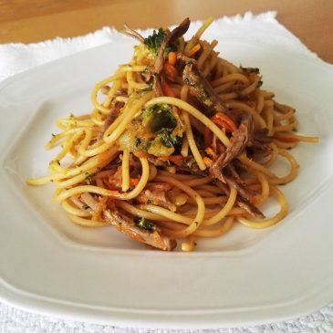 PASTA DE CARNE Y BROCOLI De estilo Asiático esta Pasta con Carne y Brócoli resultan Exóticas